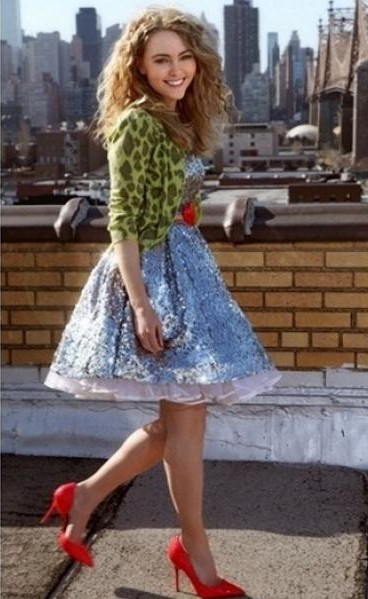 sukienka w cekiny