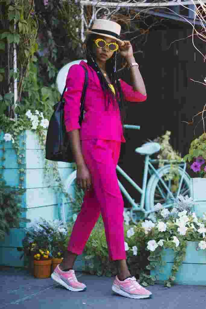garnitur damski różowy moda wiosna 2019