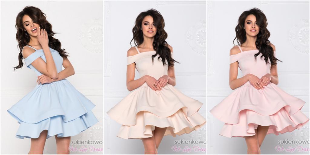 sukienki z falbanami krótkie