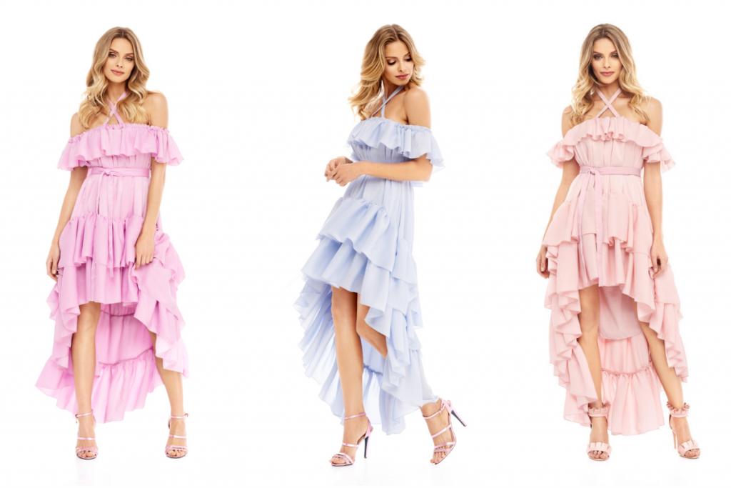 sukienki z krótszym przodem
