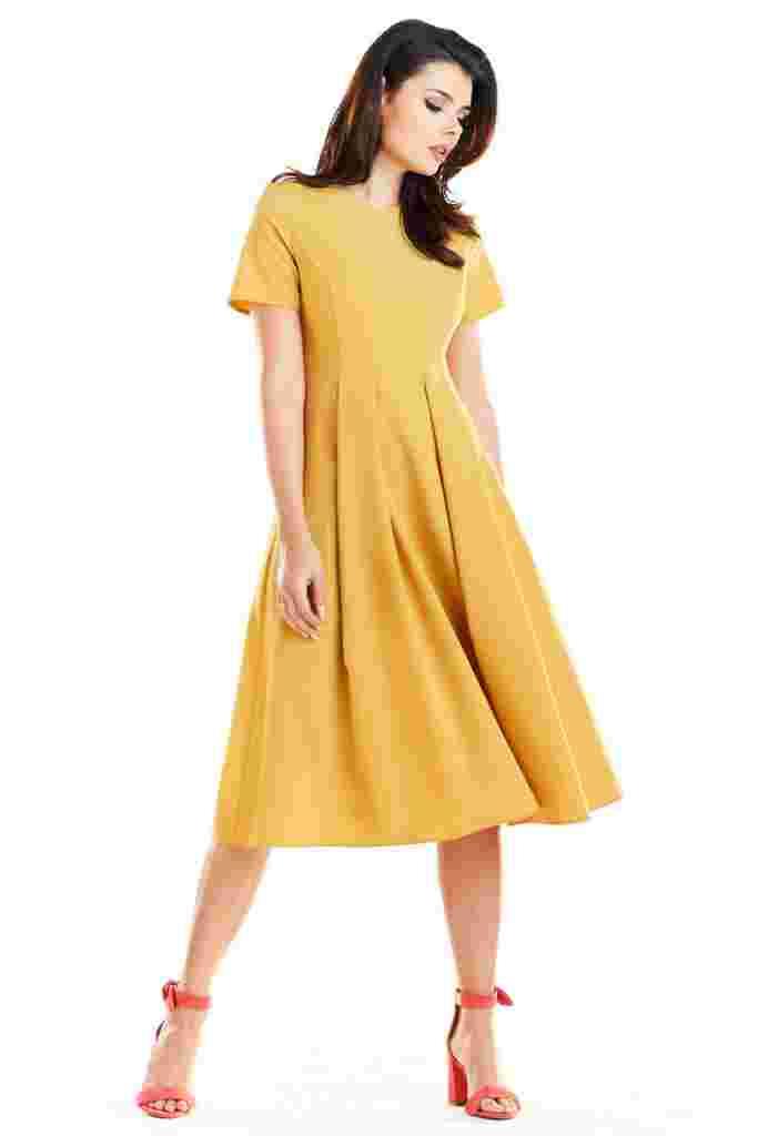 rozkloszowana sukienka na komunie avocado style