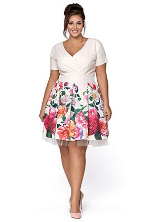 sukienka na komunie plus size