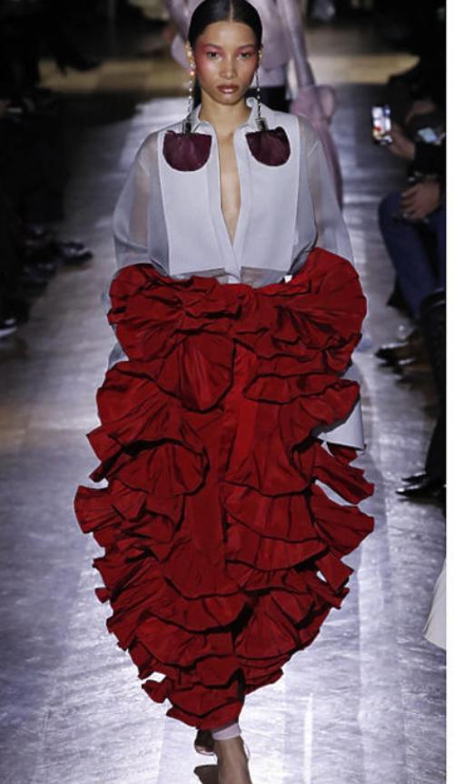 sukienka z falbanami Valentino