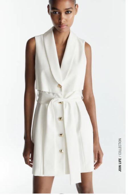 sukienka o kroju kamizelki